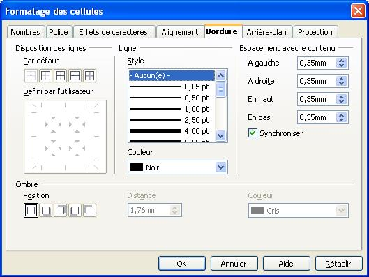 bordure de page libreoffice