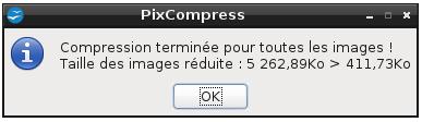 PixCompress - Résultat
