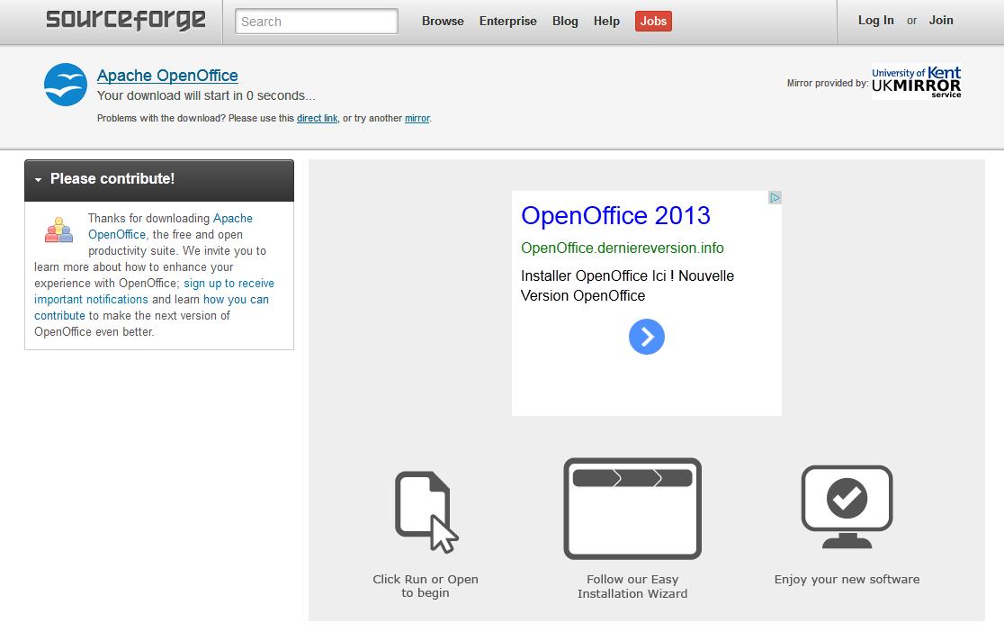 Une fausse pub pour OpenOffice